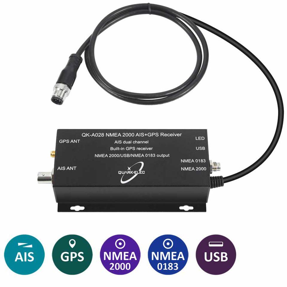 QK-A028 AIS Receiver+NMEA 2000 converter + GPS